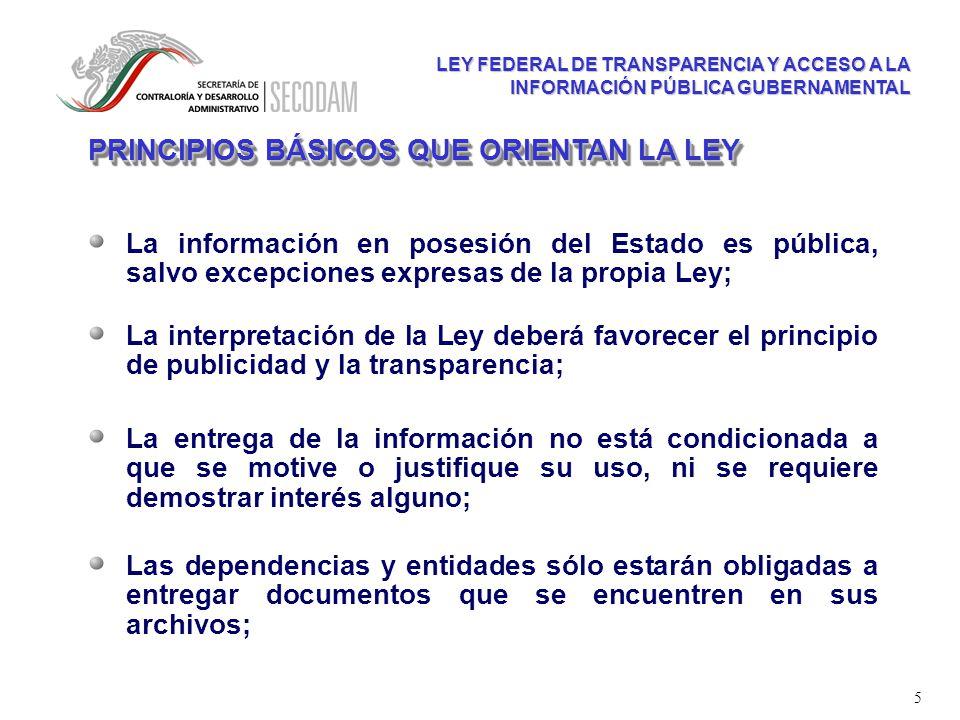ley de acceso a la informacion publica gubernamental: