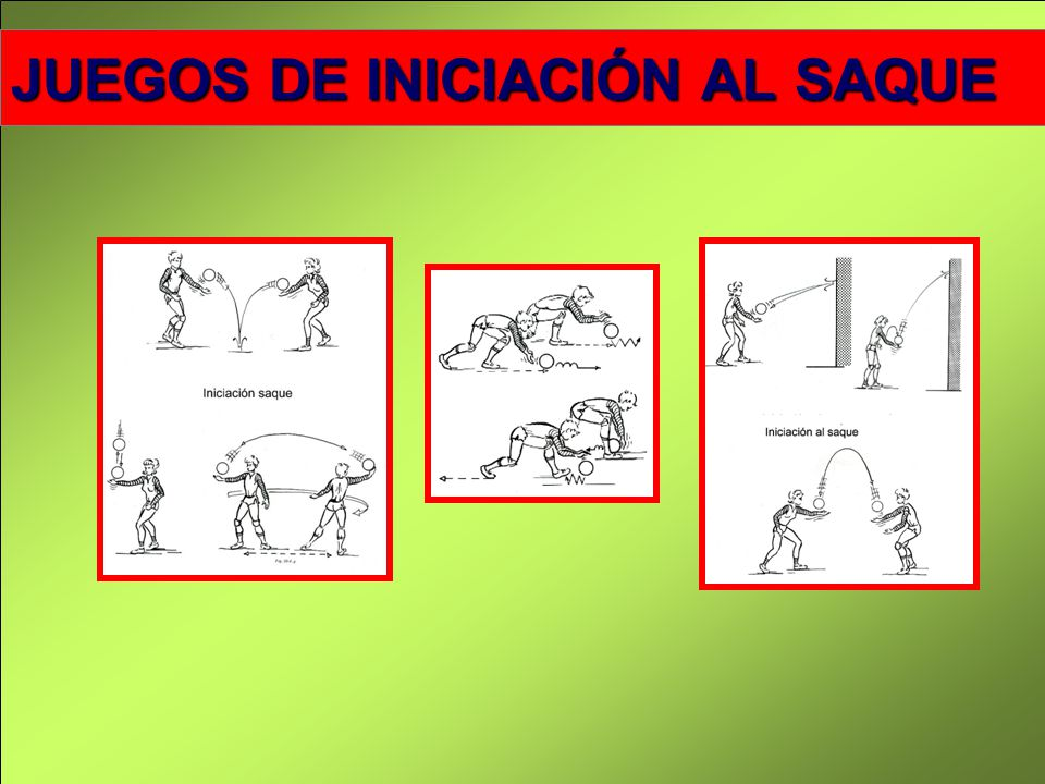 DESCRIPCIÓN DEL GESTO DEL SAQUE FRONTAL DESDE ARRIBA (SAQUE DE TENIS) Posición media, con una abertura de piernas del ancho de los hombros.