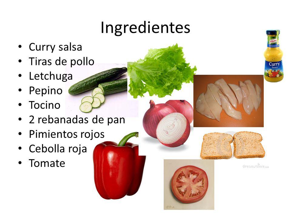 Primar paso Pelar, limpiar bien, cortar en rebanadas los tomatos, pepino, pimientos rojos, letchuga,cebolla roja,