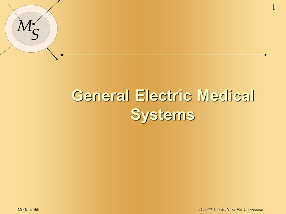 General Electric Medical Systems General Electric Medical