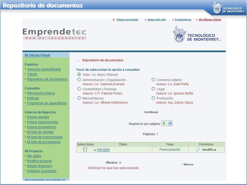 Repositorio de documentos