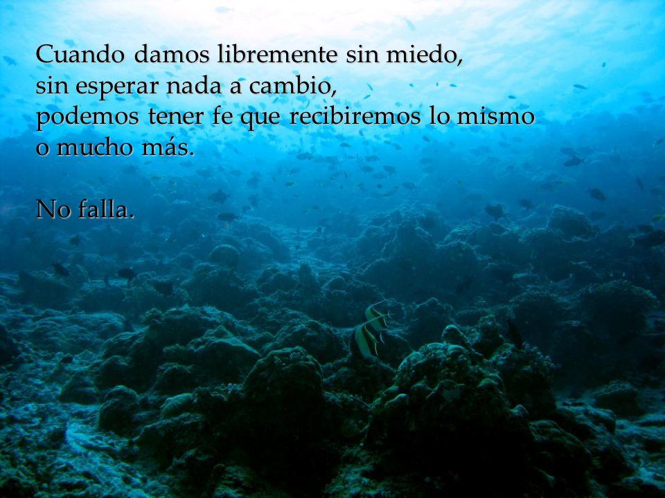 www.vitanoblepowerpoints.net Cuando damos libremente sin miedo, sin esperar nada a cambio, podemos tener fe que recibiremos lo mismo o mucho más.