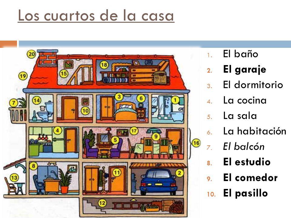 Los cuartos de la casa 11.El closet (armario) 12.