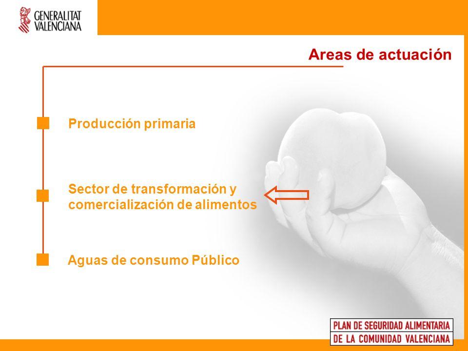 Sector de transformación y comercialización de alimentos Areas de actuación 1.
