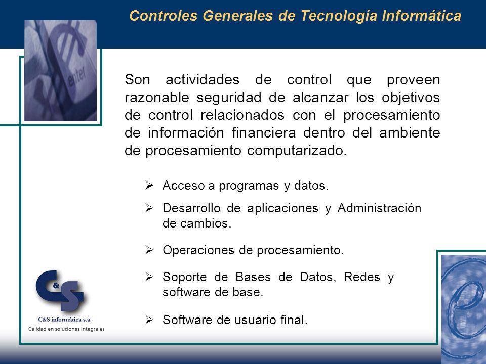 Revisión periódica de privilegios del sistema y controles de acceso a las diferentes aplicaciones y bases de datos.