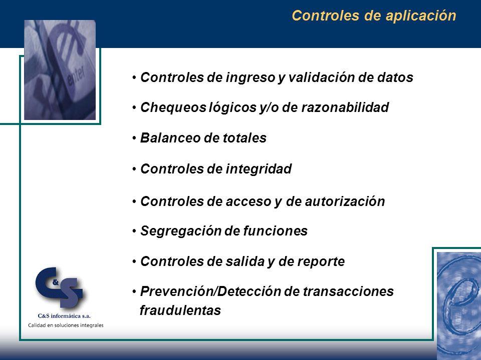 Controles Generales de Tecnología Informática Son actividades de control que proveen razonable seguridad de alcanzar los objetivos de control relacionados con el procesamiento de información financiera dentro del ambiente de procesamiento computarizado.