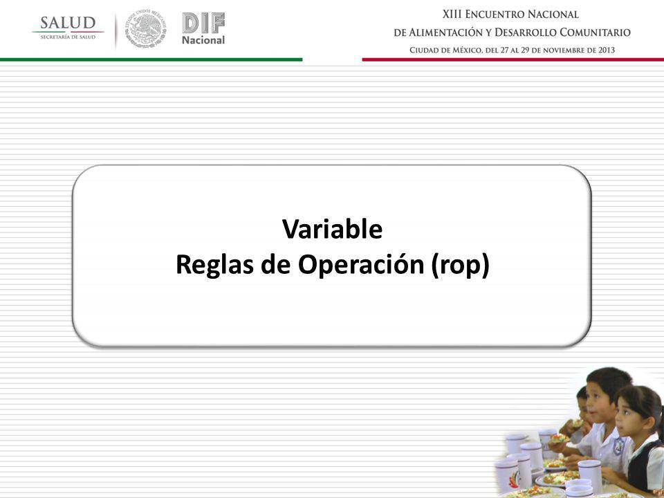 Variable Reglas de Operación (rop)