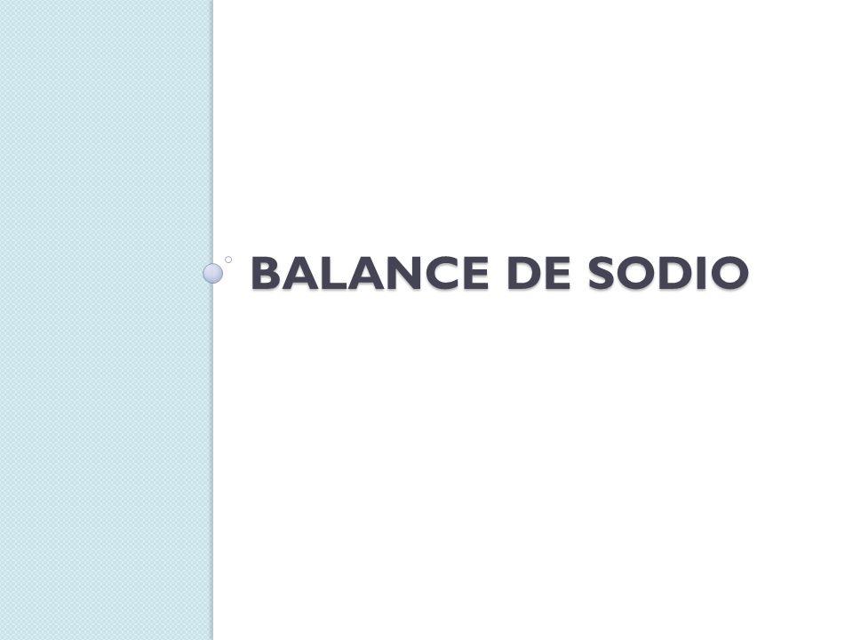 BALANCE DE SODIO