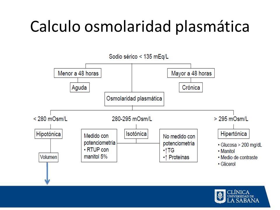 Calculo osmolaridad plasmática