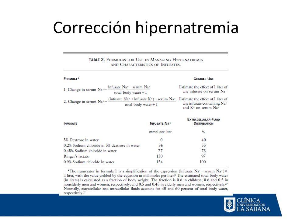 Corrección hipernatremia