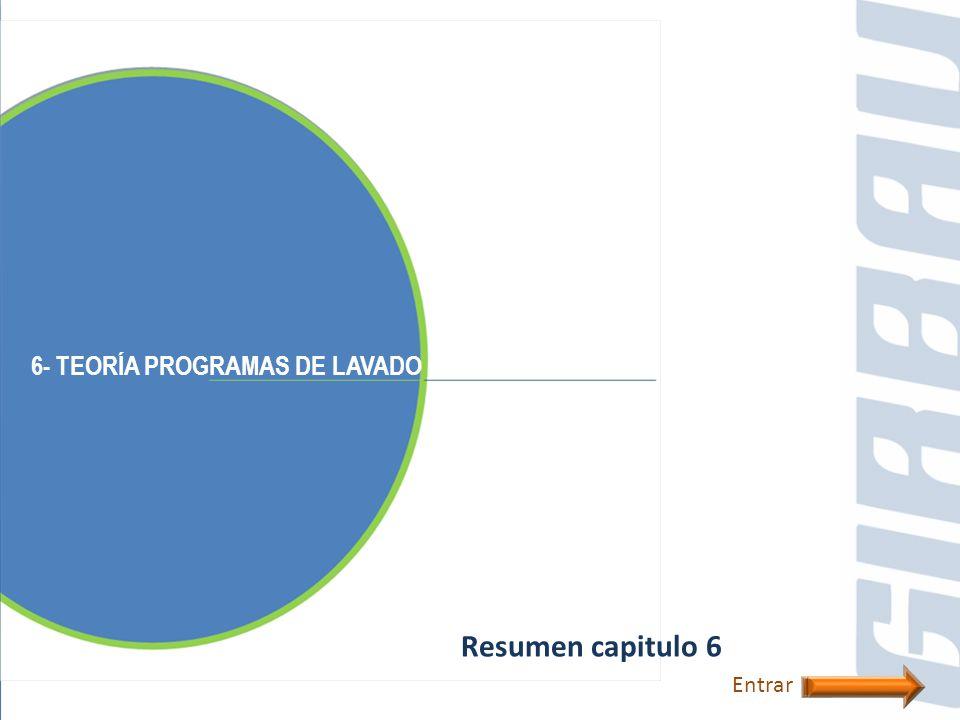 6- TEORÍA PROGRAMAS DE LAVADO Resumen capitulo 6 Entrar
