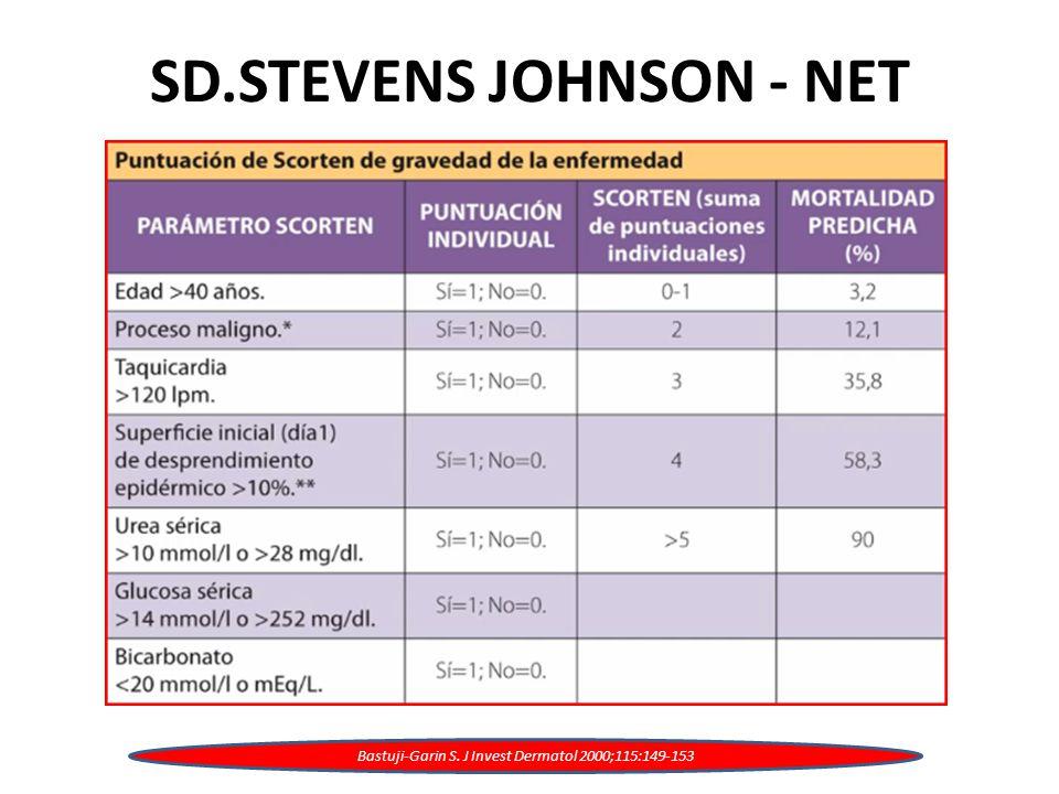 SD.STEVENS JOHNSON - NET Bastuji-Garin S. J Invest Dermatol 2000;115:149-153