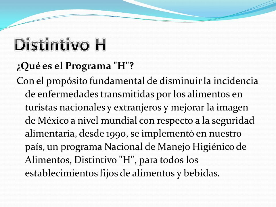 ¿Qué es el Programa H .