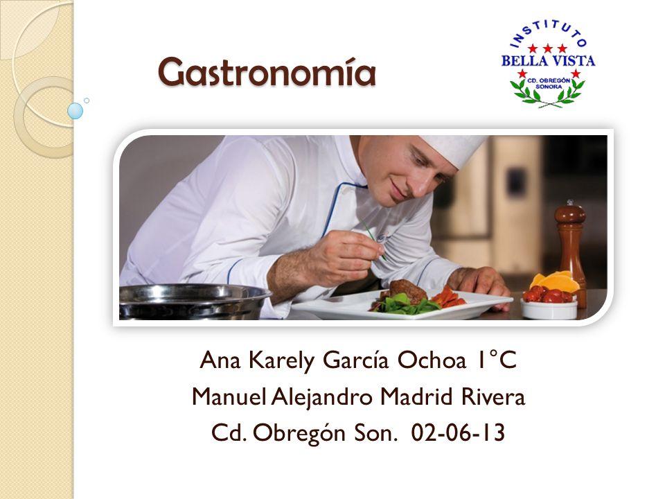 Gastronomía Ana Karely García Ochoa 1°C Manuel Alejandro Madrid Rivera Cd. Obregón Son. 02-06-13