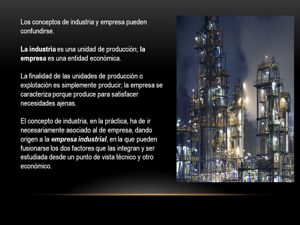 Los conceptos de industria y empresa pueden confundirse.
