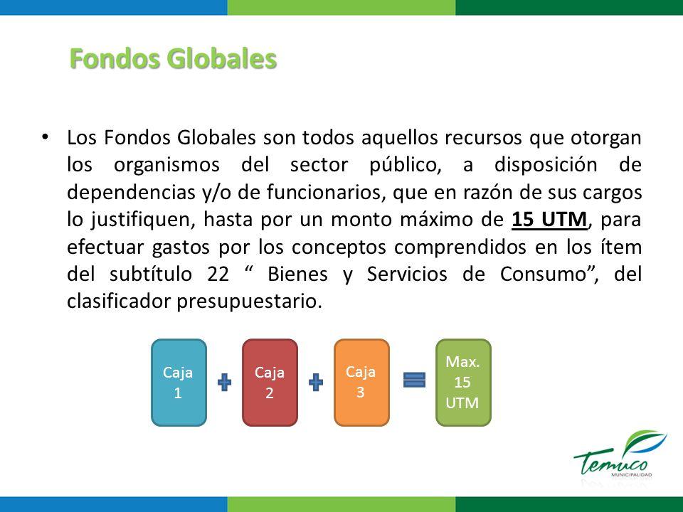 Los Fondos Globales son recursos sujetos a rendición, la cual deberá prepararse y entregarse mensuales, pudiendo ser parciales o totales junto con la información completa del gasto efectuado con los fondos concedidos.