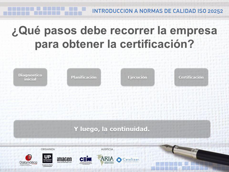 ¿Qué pasos debe recorrer la empresa para obtener la certificación.