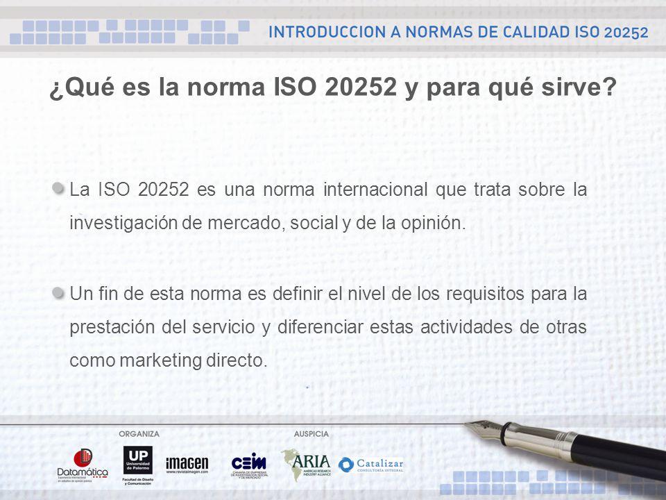 ¿Qué es la norma ISO 20252 y para qué sirve.