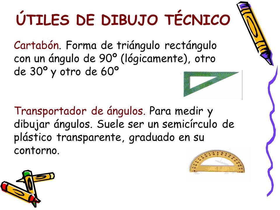 ÚTILES DE DIBUJO TÉCNICO Cartabón.