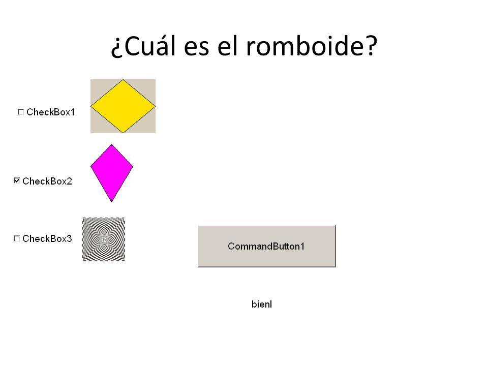 ¿Cuál es el romboide?
