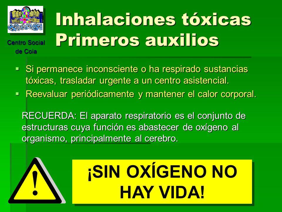 Centro Social de Coia MÓDULO 5 Asfixia, Intoxicaciones y ahogamientos ...