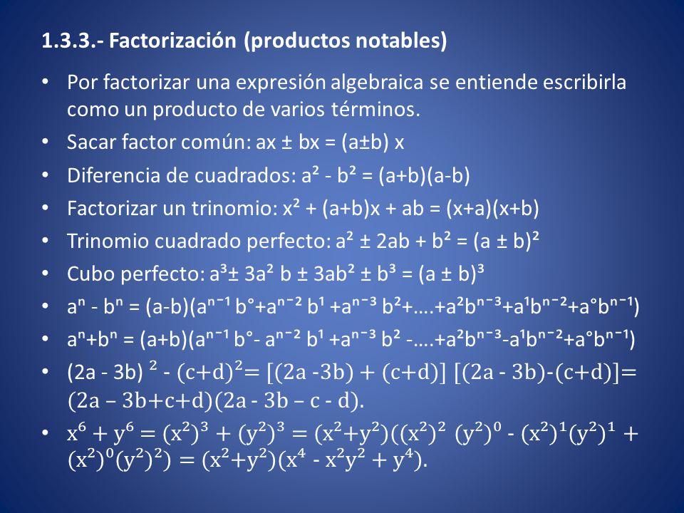 Desigualdades del tipo |ax + b| ≥ M con M >0 Resolver la desigualdad | 5/3 x + ¾ | > 2/5 Esta desigualdad se cumple cuando 5/3 x + ¾ 2/5 Resolviendo la primera ecuación 5/3 x + ¾ < -2/5  5/3 x < - 2/5 - 3/4  5/3 x < - 23/20  x < -23/20 (3/5)  x < -69/100  CS₁ = (-∞, -69/100) Resolviendo la segunda desigualdad 5/3 x + ¾ > 2/5  5/3 x > 2/5 – ¾  5/3 x > -7/20  x > 3/5 (-7/20)  x > -21/100  CS₂ = (-21/100, ∞) CS = CS₁ ∪ CS₂ = (-∞, -69/100) ∪ (-21/100, ∞) = ℝ - [-69/100, -21/100].