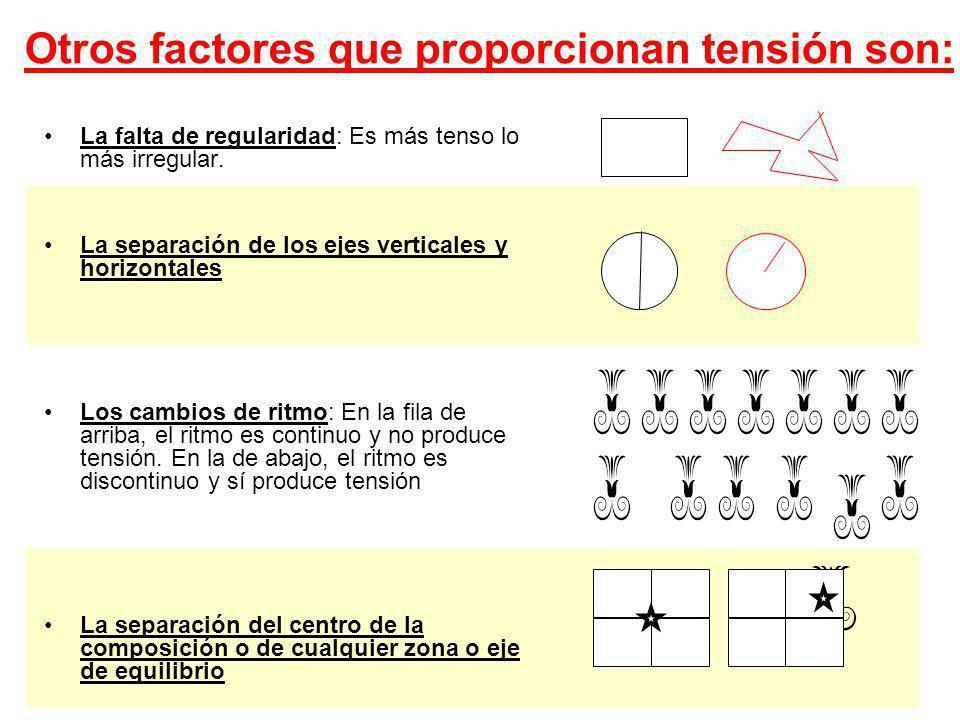 22 Conclusión: Dependiendo de su tipología y de la posición de su eje sentido, las formas nos parecen más o menos dinámicas y equilibradas Las formas además pueden ser influidas en su dinamismo por el color, ubicación en el campo visual o gráfico, etc.