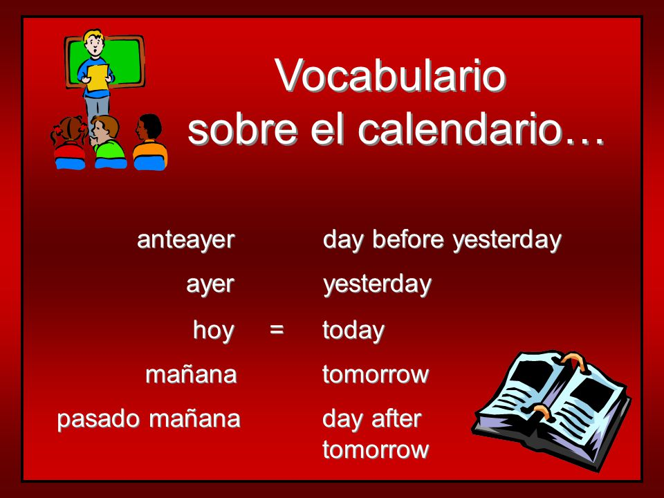 Los Días de la Semana el lunes el martes el miércoles el jueves el viernes el sábado el domingo  days of the week are not capitalized  all days are masculine  use el or los to say on…  the Hispanic calendar begins el lunes  days of the week are not capitalized  all days are masculine  use el or los to say on…  the Hispanic calendar begins el lunes