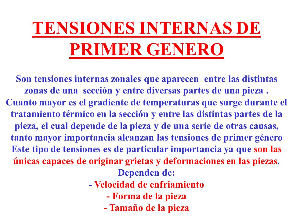 TENSIONES INTERNAS