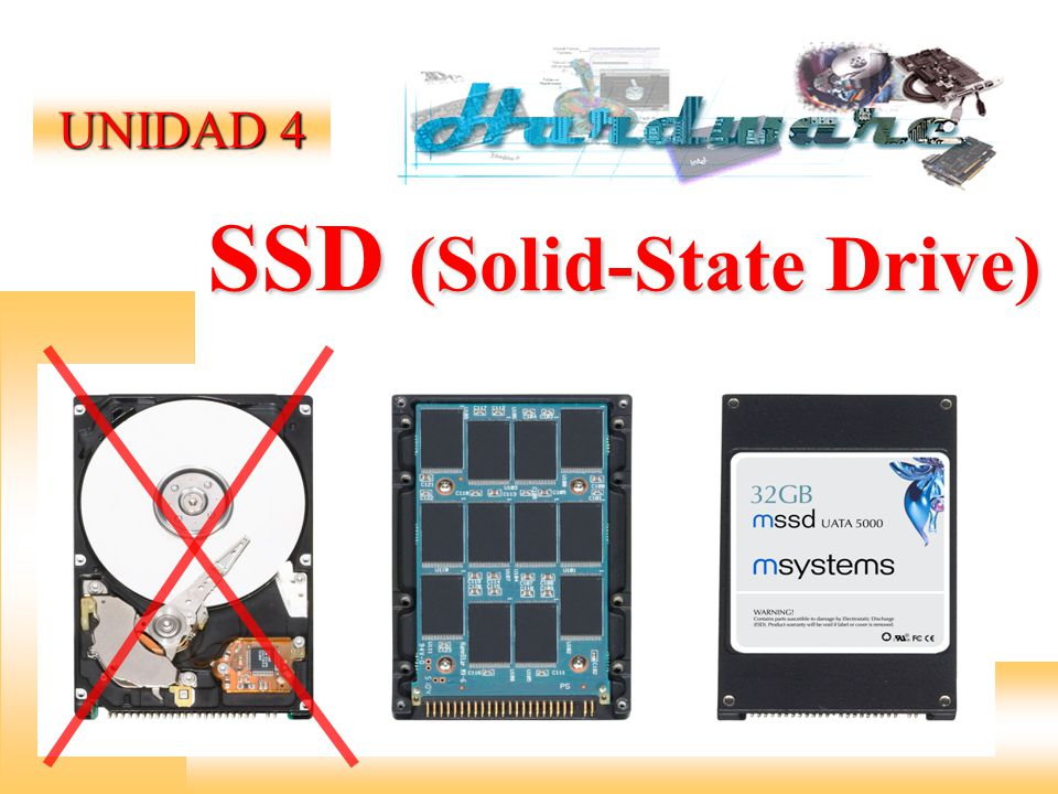 SSD (Solid-State Drive) UNIDAD 4