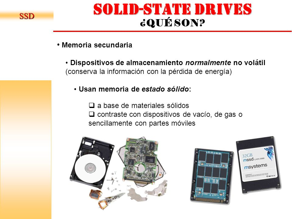 Solid-state drives ¿QUÉ SON.