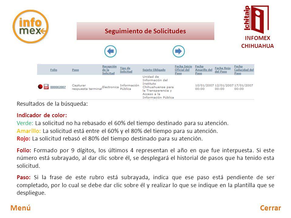 INFOMEX CHIHUAHUA Guía de referencia rápida para el usuario ...