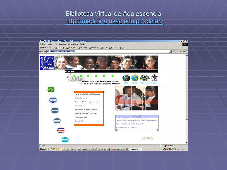 Biblioteca Virtual de Adolescencia