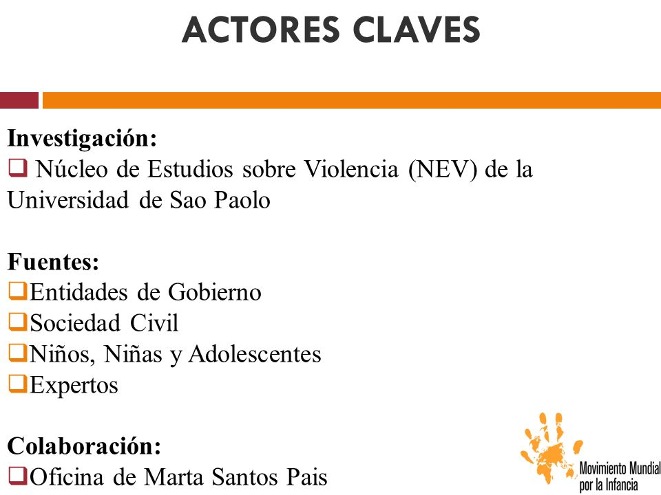 ACTORES CLAVES 1.