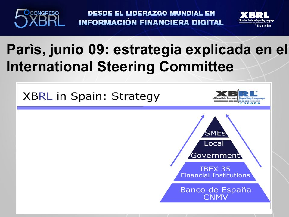 Parìs, junio 09: estrategia explicada en el International Steering Committee