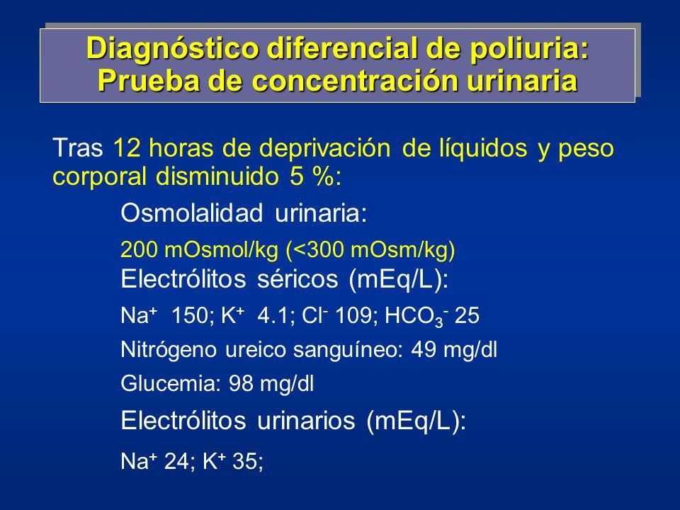 diagnóstico de laboratorio diabetes insípida