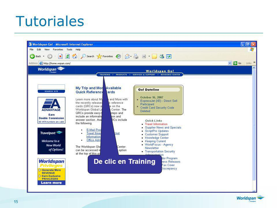 15 Tutoriales De clic en Training