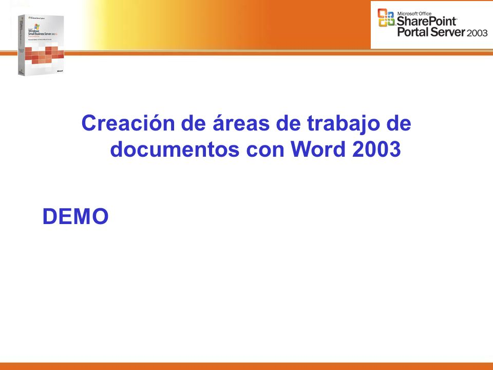 Creación de áreas de trabajo de documentos con Word 2003 DEMO