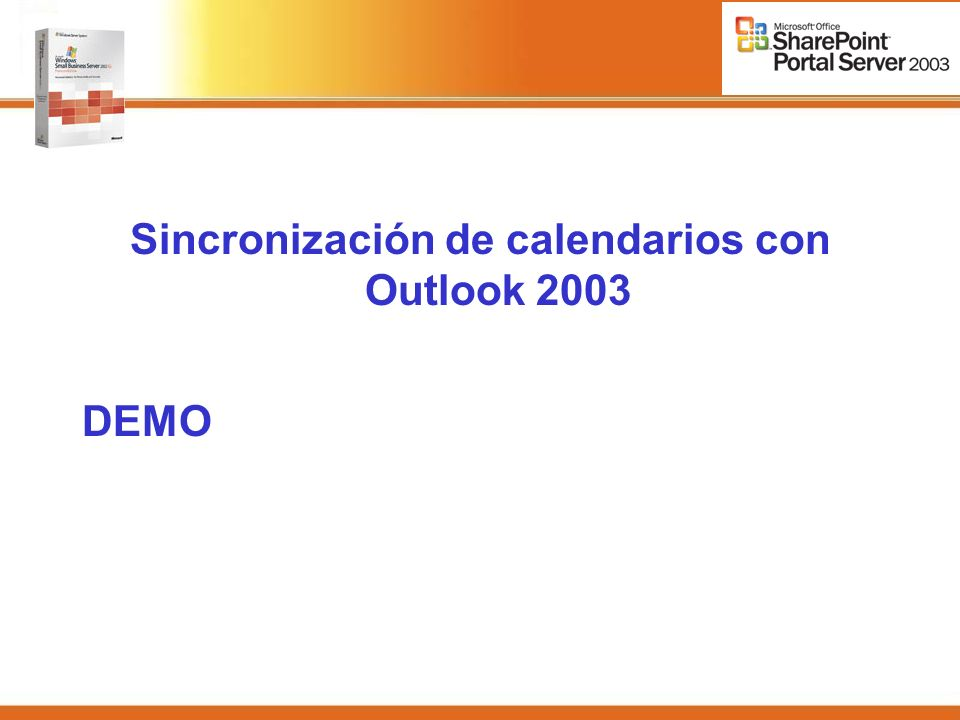 Sincronización de calendarios con Outlook 2003 DEMO