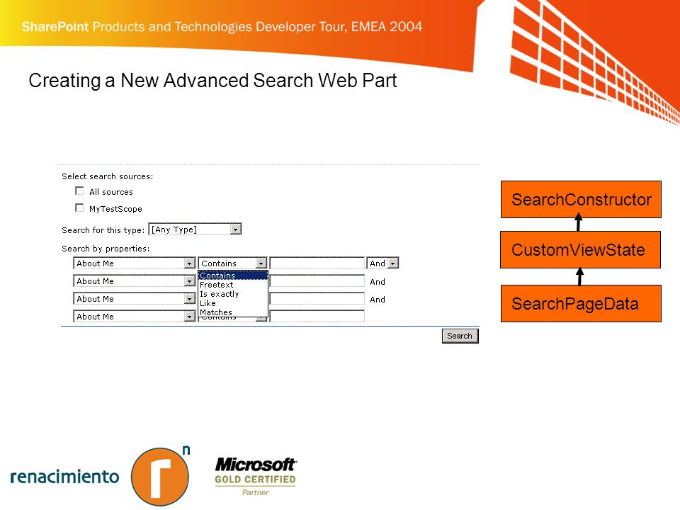 Creating a New Advanced Search Web Part CustomViewState SearchPageData SearchConstructor