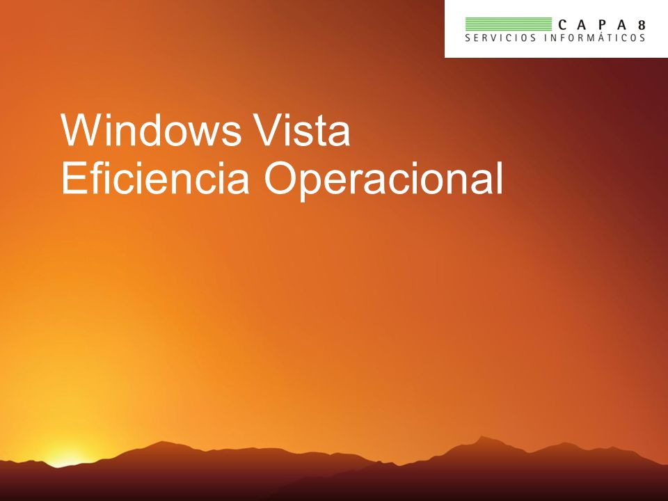 Windows Vista Eficiencia Operacional