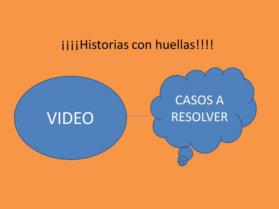 ¡¡¡¡Historias con huellas!!!! VIDEO CASOS A RESOLVER