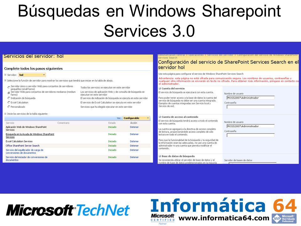 Búsquedas en Windows Sharepoint Services 3.0