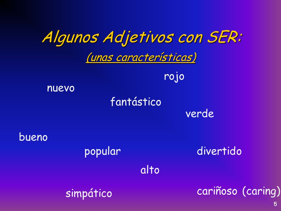 4 Los usos del verbo Ser: We are going to use POND to learn the uses of ser.