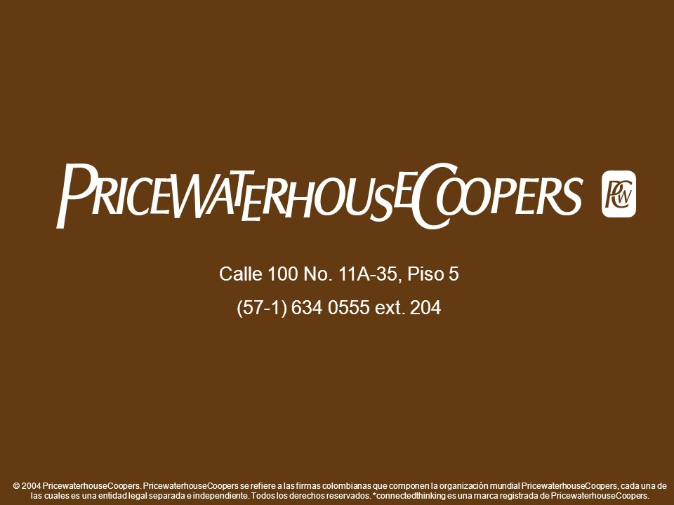 © 2004 PricewaterhouseCoopers.