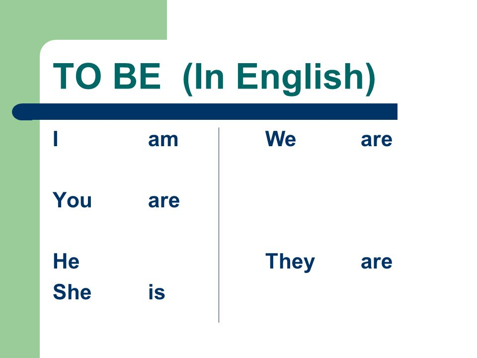 The Verb ESTAR In writing, be sure to use the accent mark on all forms except the yo and nosotros forms.