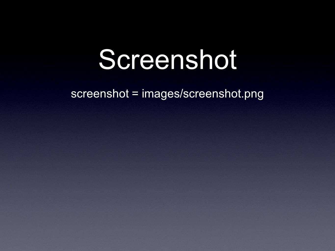 Screenshot screenshot = images/screenshot.png