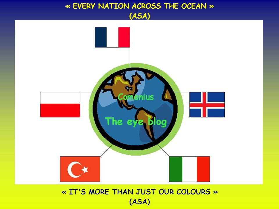 « EVERY NATION ACROSS THE OCEAN » (ASA) « IT S MORE THAN JUST OUR COLOURS » (ASA)