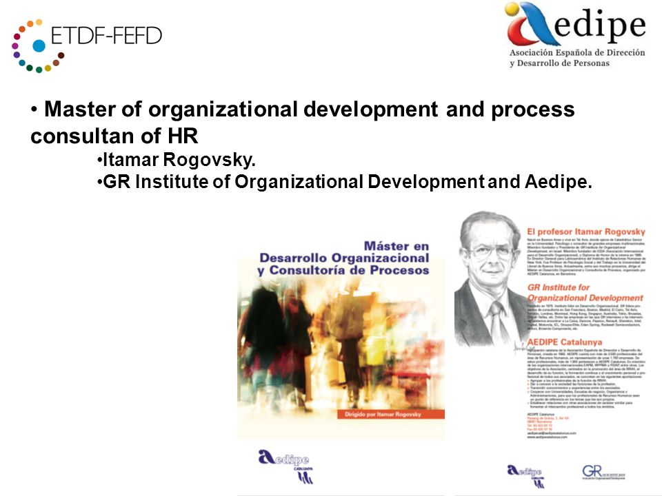 Master of organizational development and process consultan of HR Itamar Rogovsky.