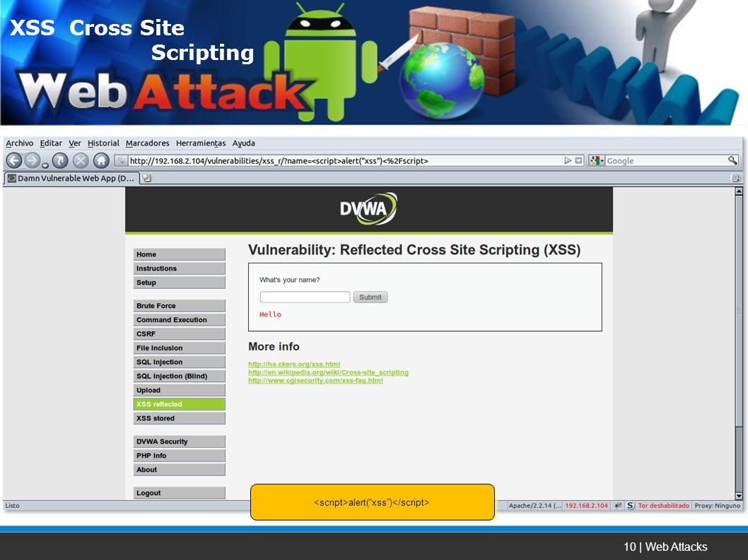 10 | Web Attacks alert(xss) XSS Cross Site Scripting